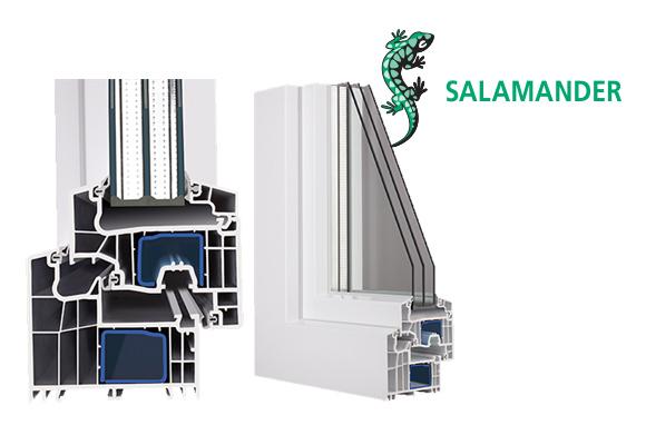 salamander Plastikiniai langai Gealan